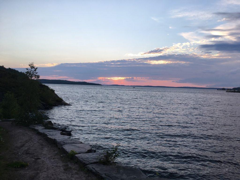 Georgian Bay sunset by the Stockey Centre