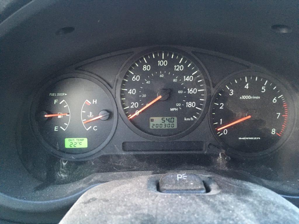 Car Odometer reading 200300 kilometers