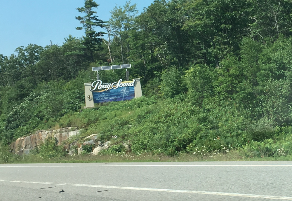 Welcome to Parry Sound sign