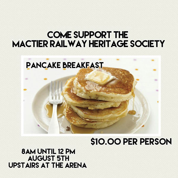 Advertisement for a pancake breakfast