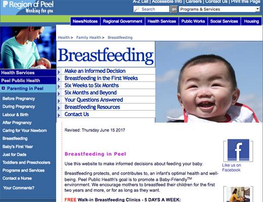 Region of Peel - Health website