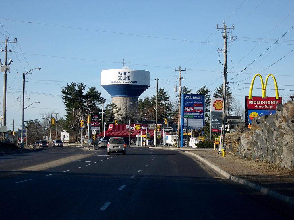 Water tower road wal-mart and McDonalds
